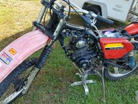 Vintage Dual Sport conversion to Motocross-Trail/Woods Racer